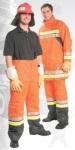 Nomex kabát, narancspiros,  vízlepergető Confort külső  sárga/szürke,