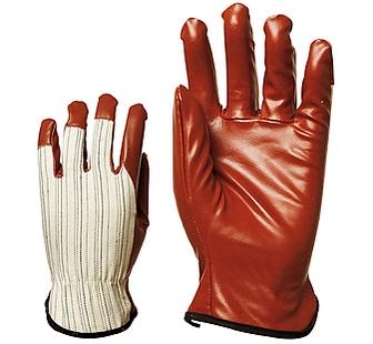 Varrott bordó 9040-es nitril kesztyű, rugalmas pamut kézháttal, csukló