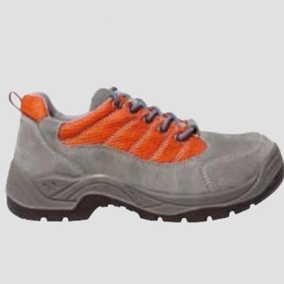 SPINELLE (S1P) szürke velúr cipő, szellőző narancs betét és fémgom