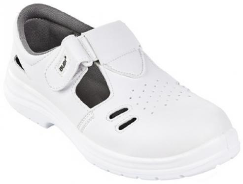 BUBI (01) fehér thermokaplis, gumitalpú LCG48 szandál