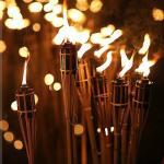 Bambusz fáklya Asztali 35 cm