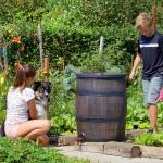 Esővízgyűjtő fahordó hatású 350 liter