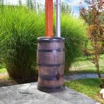 Fa hatású hordó esővízgyűjtő tartály 120 liter