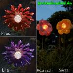 Napelemes világító virág