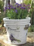 Provence levendula agyag kaspó (füles)