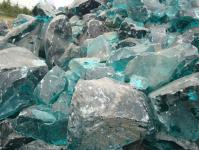 Üveg szikla 1 Türkiz kék