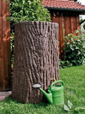 Esővízgyűjtő fatörzs hatású 475 l Evergreen