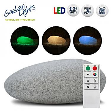 Világító kő LED hangulat lámpa