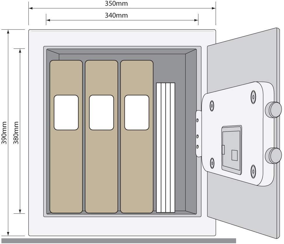 Yale / YSV/390/DB1 bútorszéf (irattartó mappa méret)