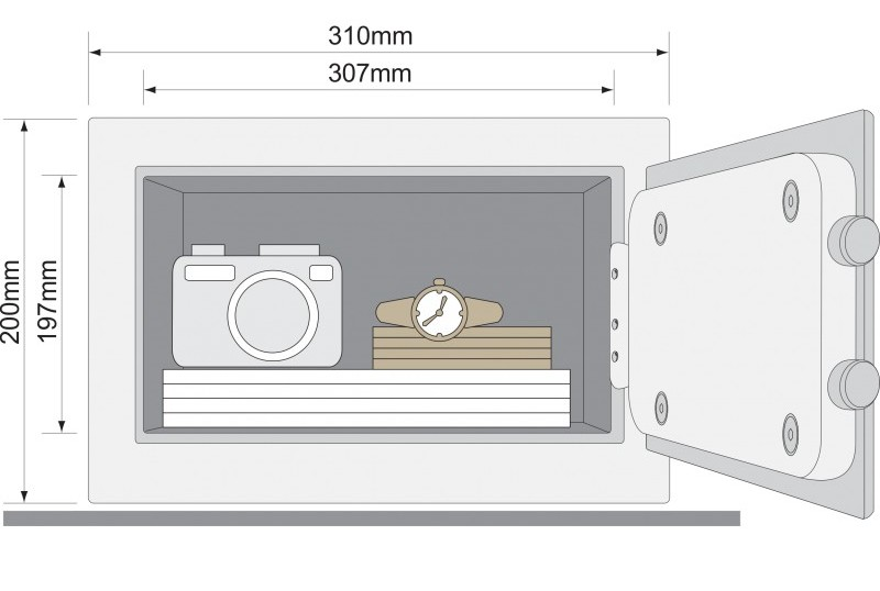 Yale - YLG/200/DB1 laptop széf méretei....