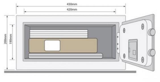 Yale - YLV/200/DB1 laptop széf méretei...