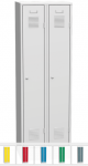 K2438 L 2-ajtós öltözőszekrény ülőpaddal