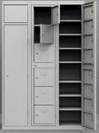 K224/6 6 rekeszes ruhakiadó szekrény