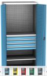 SPD 11D műhelyszekrény, 2 polc, 4 fiók, perforáció hátfalon, ajtókon