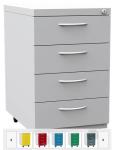 K2406 4 fiókos görgős konténer egyforma fiókokkal