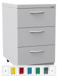 K2407 3 fiókos görgős konténer egyforma fiókokkal