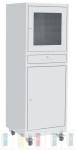 PCS 04A ipari számítógép szekrény 2 db polccal, görgőkkel