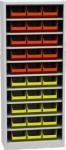 SPP 02 R alkatrésztároló szekrény 9 polccal, 30 db box-szal,ajtó nélk.
