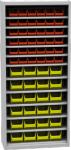 SPP 03 R alkatrésztároló szekrény 11 polccal, 60 db box-szal,ajtó nélk
