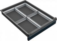 VND DPK 11A fiók osztó (4 részre, 60-120 mm magas fiókokhoz)
