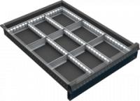 VND DPK 11B fiók osztó (9 részre, 60-120 mm magas fiókokhoz)