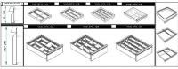 VND DPK 11C fiók osztó (12 részre, 60-120 mm magas fiókokhoz)