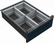VND DPK 12A fiók osztó (4 részre, 150-240 mm magas fiókokhoz)