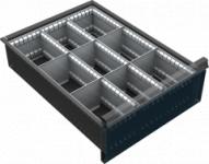 VND DPK 12B fiók osztó (9 részre, 150-240 mm magas fiókokhoz)