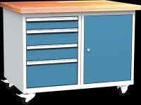 DPL_01_B műhelykocsi (1x polcos szekrény, 4x fiók)