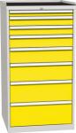 DPO 05 A műhelyszekrény 8 fiókkal, munkafelülettel, 1350 mm magas