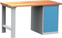 DPS_104 lapraszerelt munkapad (1500 mm széles, egyajtós szekrénnyel)