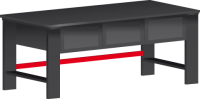 DPT_02_A összekötő rúd munkapad lábakhoz, 2000 mm széles padhoz