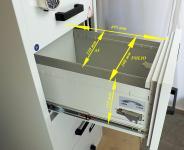 FC 4E-KK tűzálló függőmappa tároló szekrény (4 fiók, 60 perc, el. központi zár+kulcsok)