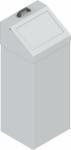 KOS-1266 csapófedeles fém szemetes kuka (100 l)