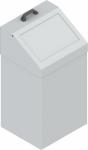 KOS-1267 csapófedeles fém szemetes kuka (70 l)