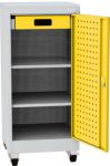 NAR_01K_BL szerszámtároló szekrény, 2 db polc, 1 fiók, írófelület