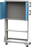 PPV_03_A mobil PERFO szerszámtartó fal polccal, koffer tartóval (zárható, egyoldalas)