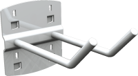 QDN_24_06 szerszámtartó kampó (dupla, 45°, L=150 mm, 5 db/csomag)
