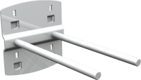 QDN_26_01 szerszámtartó kampó (dupla, 0°, L=50 mm, 5 db/csomag)