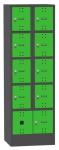 SBE_32_B8 mobileszköz töltőállomás (8 fakk, 230V/16A, 2x USB)