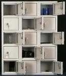 SBS-X3-0001 értékmegőrző, szendvicstároló szekrény, 15 ajtós