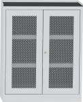 SCH T1B vegyszerszekrény rácsbetétes ajtóval, kifolyásgátló polcokkal