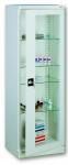 Sml 101 üvegajtós orvosi szekrény/műszerszekrény (60 cm, 1 ajtós, 4 üvegpolc)