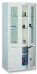 Sml 114 üvegajtós orvosi szekrény/műszerszekrény (80 cm,2x2 ajtós, 2+1 üvegpolc)