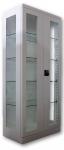 Sml 115 üvegajtós, üvegfalú orvosi szekrény/műszerszekrény (80 cm, 2 ajtós, 4 üvegpolc)