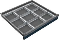 VND_DPO_11B fiók osztó (9 részre, 60-90-120 mm magas DPO fiókokhoz)