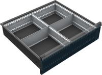 VND_DPO_12A fiók osztó (4 részre, 150-180-210-240 mm-es DPO fiókokhoz)