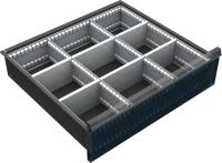 VND_DPO_12B fiók osztó (9 részre, 150-180-210-240 mm-es DPO fiókokhoz)