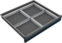 VND_DPO_21A fiók osztó (4 részre, 60-90-120 mm-es DPO fiókokhoz)