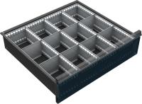 VND_DPO_22C fiók osztó (12 részre, 150-180-210-240 mm-es DPO fiókokhoz)